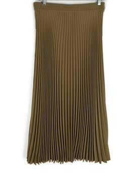 Msgm Tan Pleated Long Skirt 2