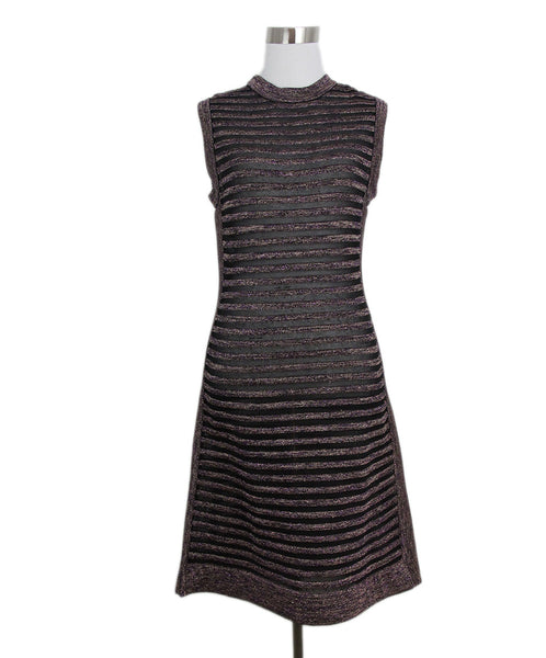 M Missoni Black Sparkle Stripe Dress 1