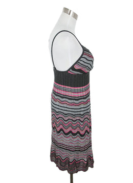 M Missoni Grey Pink Stripes Viscose Dress 2