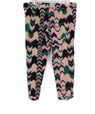 M Missoni pink green print pants 1