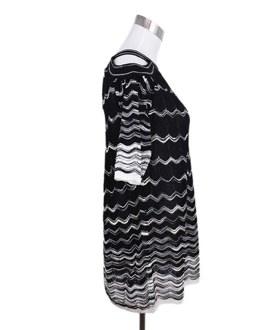 Missoni Black White Viscose Cold Shoulder Sweater 1