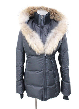 Mackage Black Nylon Down Trim Fur Outerwear