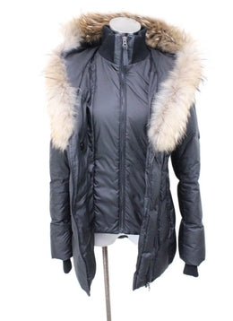 Mackage Black Nylon Down Trim Fur Outerwear 1