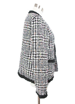 Magaschoni Black White Tweed Jacket with Orange Yellow Pink Accents 2