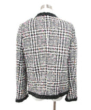 Magaschoni Black White Tweed Jacket with Orange Yellow Pink Accents 3