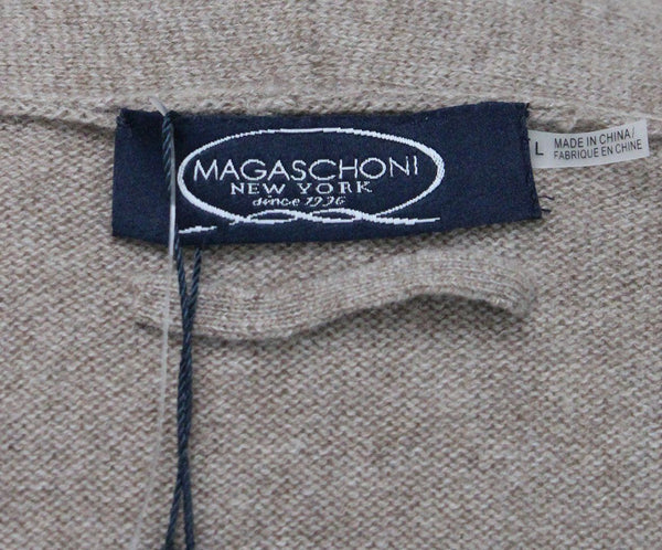 Magaschoni Beige Cashmere Sweater Coat 3