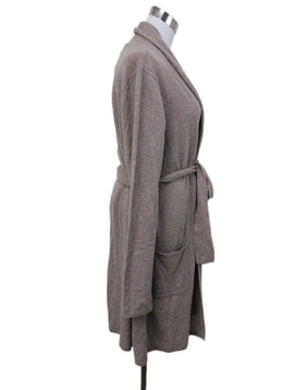 Magaschoni Beige Cashmere Sweater Coat 1