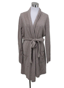 Magaschoni Beige Cashmere Sweater Coat