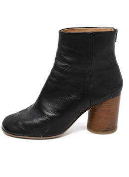 Martin Margiela Black Leather Boots 1