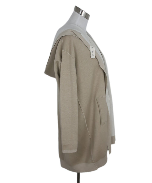 Maison Ullens Tan Cream Cashmere Reversible Sweater 2