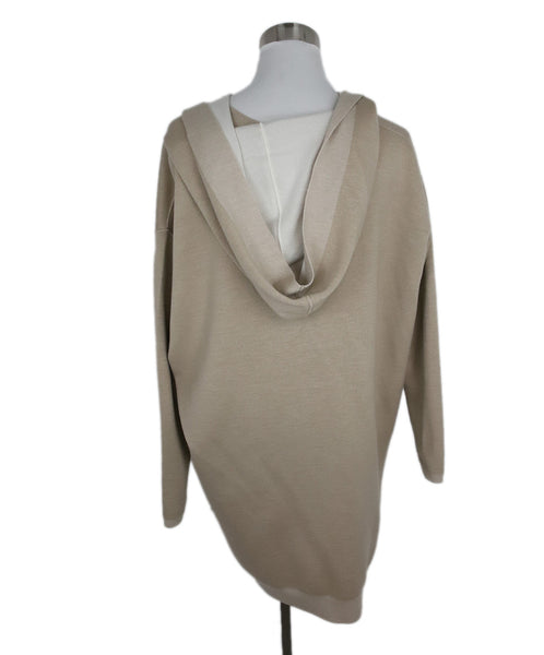 Maison Ullens Tan Cream Cashmere Reversible Sweater 3