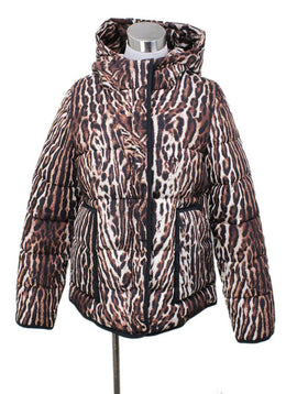 Maje Animal Print Down Coat Sz 4