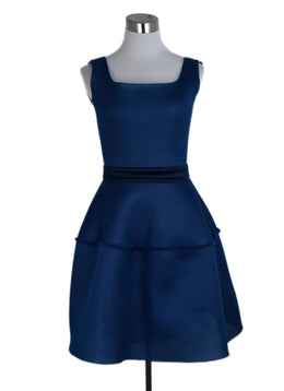 Maje Blue Mesh Polyamide Dress 1