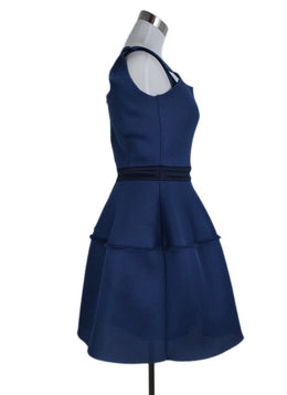 Maje Blue Mesh Polyamide Dress 2