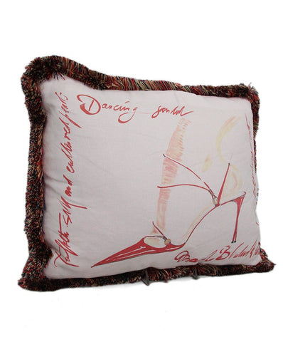 Manolo Blahnik 2 Piece Set Pink Pillows 1
