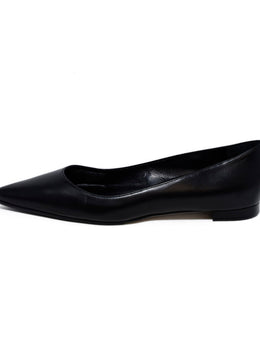 Manolo Blahnik Black Leather Flats 2