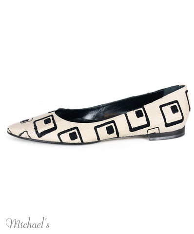 Manolo Blahnik Black Ivory Shoes Sz 39.5