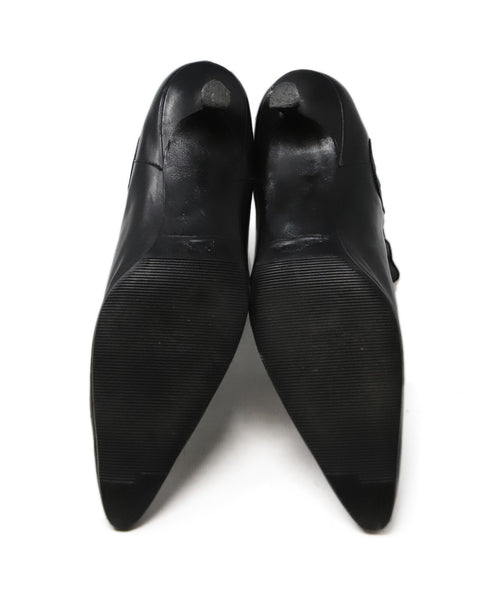 Manolo Blahnik Black Leather Booties 4