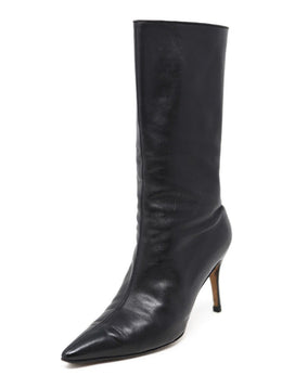 Manolo Blahnik Black Leather Boots Size 9