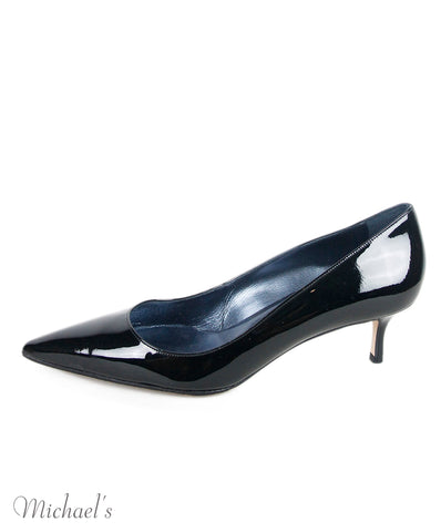 Manolo Blahnik Black Patent Leather Shoes Sz 39.5