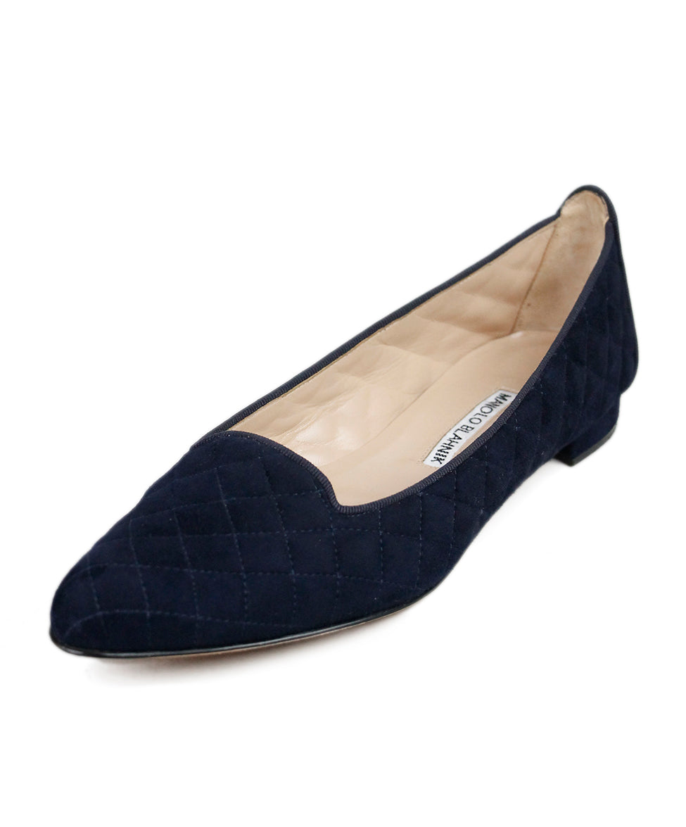 Manolo Blahnik Blue Suede Shoes
