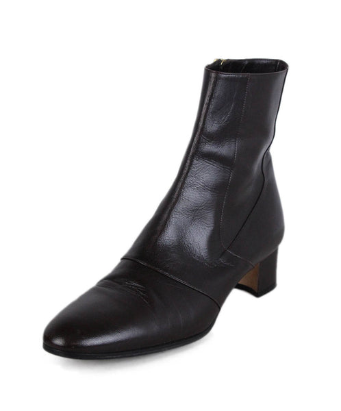 Manolo Blahnik Brown Leather Booties 1