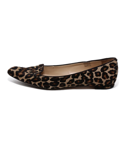 Manolo Blahnik Brown Pony Hair Animal Print Flats 1