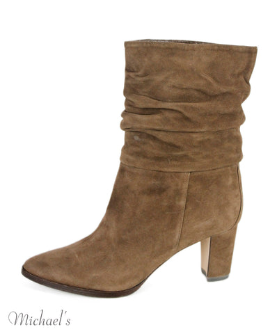 Manolo Blahnik Brown Suede Boots