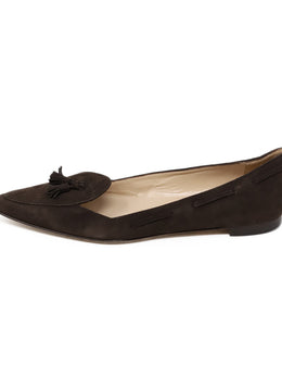 Manolo Blahnik Brown Suede Flats 2