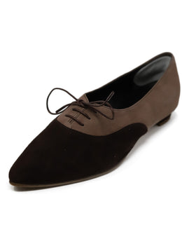 Manolo Blahnik Brown Suede Flats