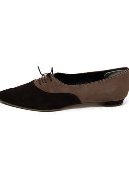 Manolo Blahnik Brown Suede Flats 1