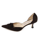 Manolo Blahnik Brown Suede Kitten Heels 2