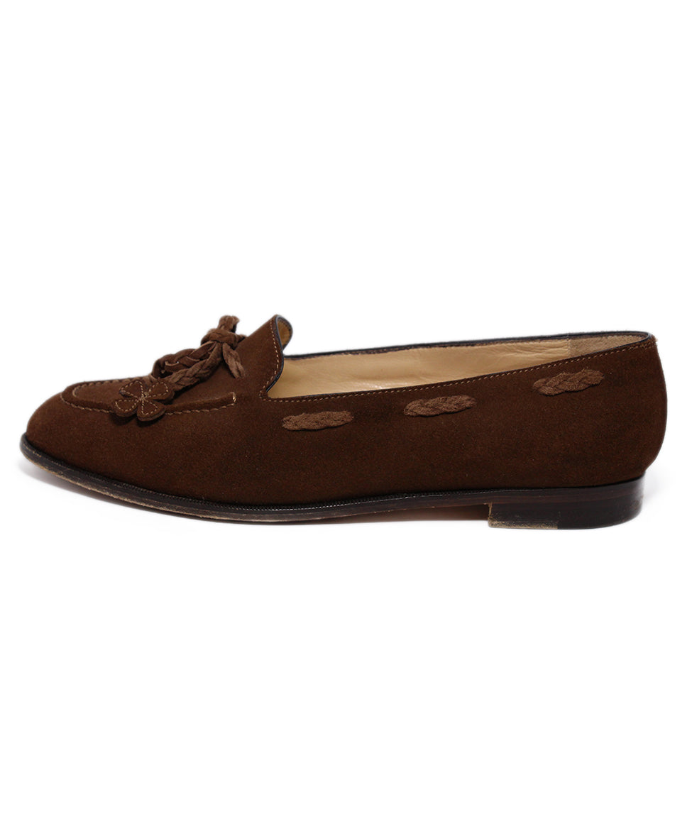 Manolo Blahnik Brown Suede Loafers 2