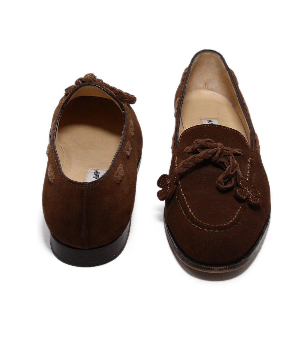 Manolo Blahnik Brown Suede Loafers 3