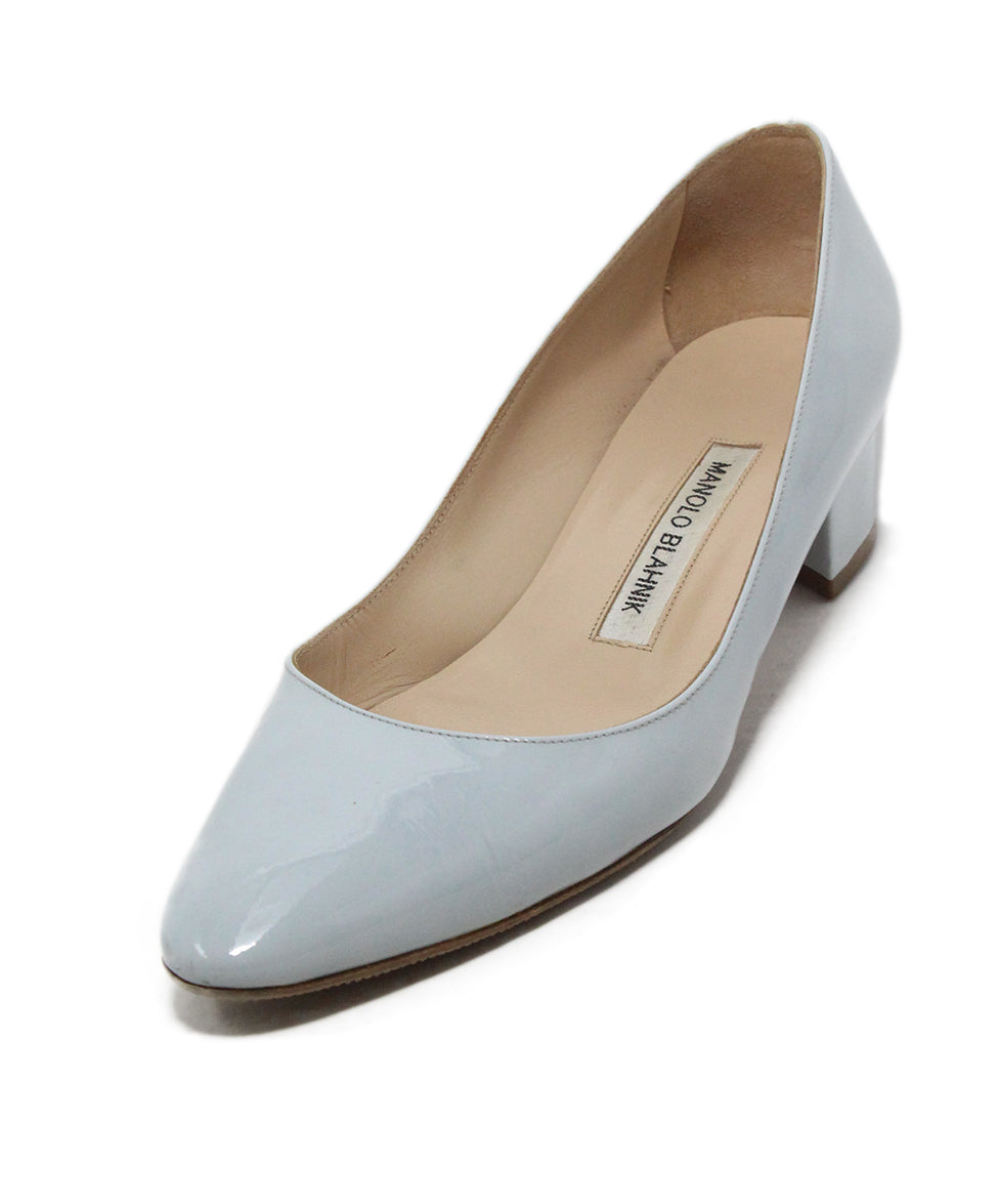 559cda22f031a Manolo Blahnik Heels US 6 Grey Patent Shoes - Michael's Consignment NYC