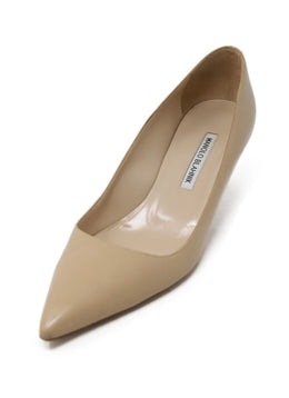 Manolo Blahnik Beige Leather Heels 1