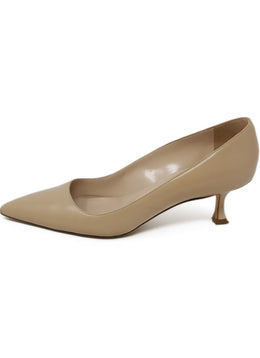 Manolo Blahnik Beige Leather Heels 2