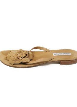 Manolo Blahnik Neutral Suede Sandals 2
