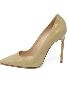 Manolo Blahnik Nude Patent Leather Heels 1