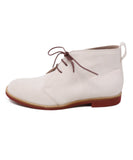 Manolo Blahnik Pink Pale Suede Lace-Up W/Dust Cover Booties 2
