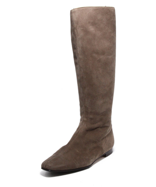 Manolo Blahnik Taupe Suede Boots 1