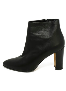 Manolo Blahnik Black Leather Booties 2
