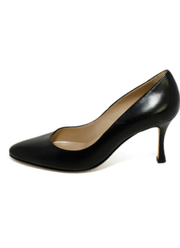 Manolo Blahnik Black Leather Shoes 2