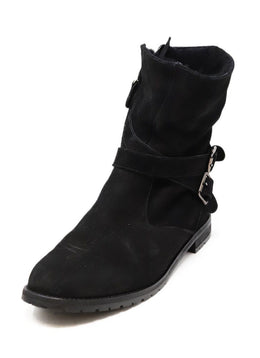 Manolo Blahnik Black Shearling Booties