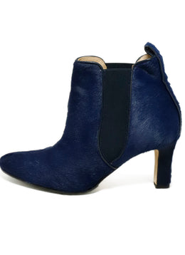Manolo Blahnik US 6.5 Blue Navy Pony Booties 2