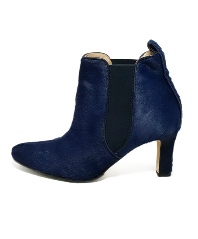 Manolo Blahnik US 6.5 Blue Navy Pony Booties 1