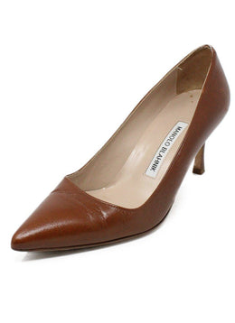 Manolo Blahnik Brown Leather Heels 1