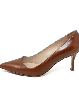 Manolo Blahnik Brown Leather Heels 2