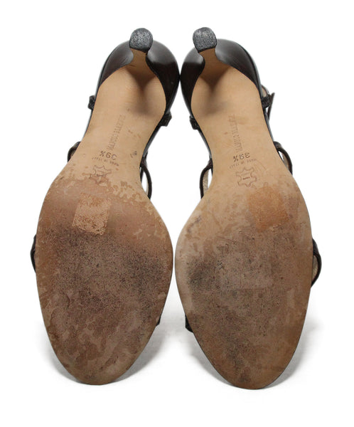 Manolo Blahnik Brown Skin Sandals 5