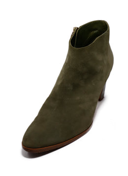 Manolo Blahnik Green Suede Booties 1